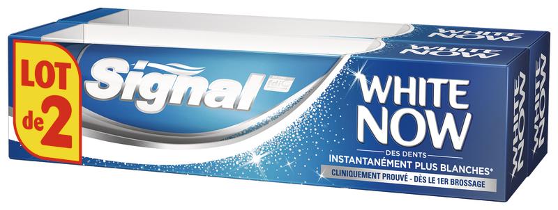 Lot de 2 dentifrices Signal White Now (via VDR)