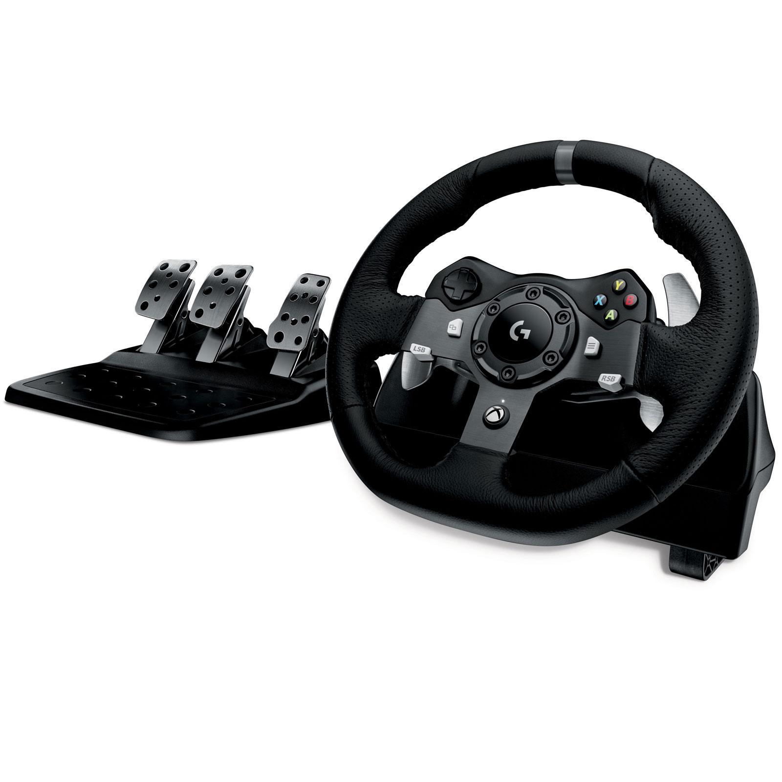 Volant et pédalier Logitech G920 Driving Force Racing Wheel pour Xbox One et PC