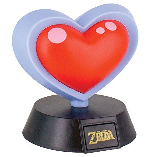 Lampe 3D Nintendo Zelda et Mario - Cœur