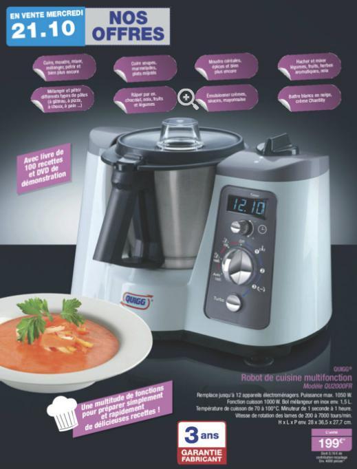 Robot de cuisine Multifonction QUIGG QU2000FR