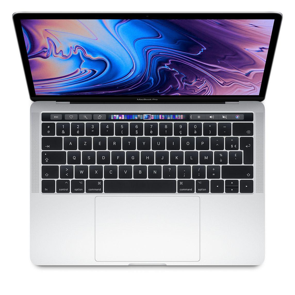 """Ordinateur Portable 13.3"""" MacBook Pro Retina 13 2018 (Reconditionné) - Intel i5 quadricoeur 2,3 GHz, SSD 256 Go, 8Go RAM, Touch Bar - Argent"""