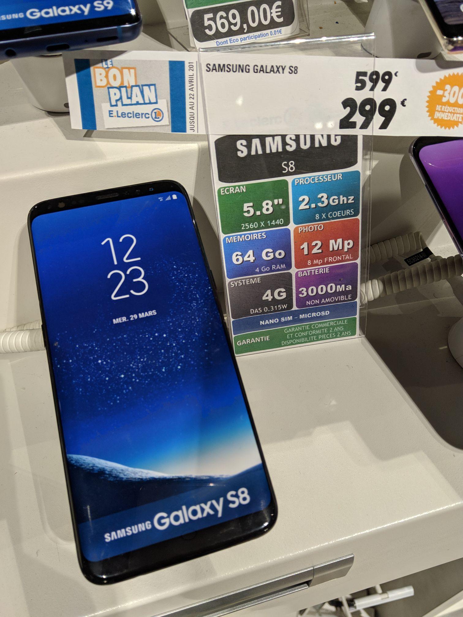 """Smartphone 5.8"""" Samsung Galaxy S8 (QHD+, Exynos 8895, 4 Go de RAM, 64 Go) - Blagnac (31)"""