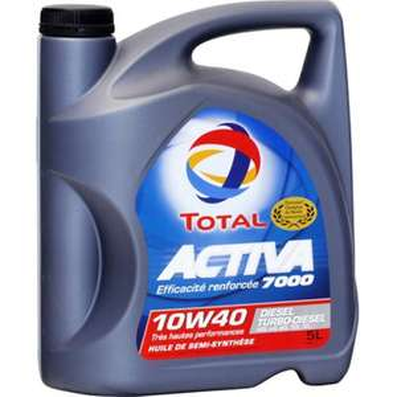 Sélection d'huiles moteur Total/Elf en promotion - Ex: Total Activa 7000 10W-40 - 5 Litres (Via BDR/ODR et 4€ sur la carte)