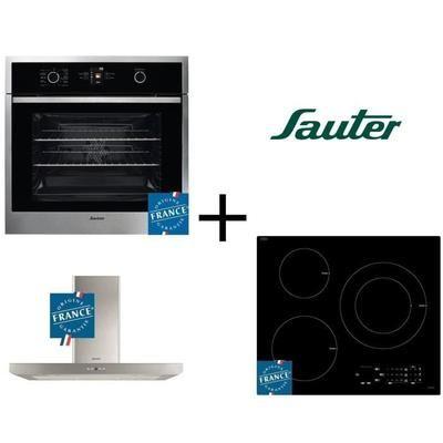[Cdiscount à Volonté] Pack cuisson Sauter: Four multifonction SFP950X  + Table de cuisson à induction SPI5361B + Hotte aspirante SHB4912X