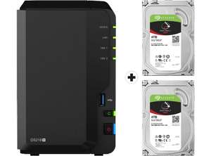 Serveur NAS Synology DiskStation DS218+ - 2 x HDD 4To Seagate Ironwolf (Frontaliers Suisse)