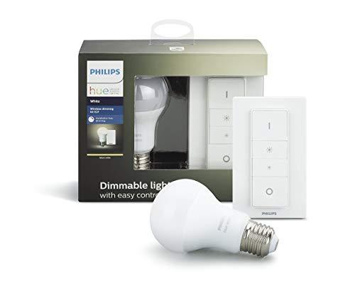 Kit Ampoule Philips Hue Dimming White- E27, 9,5 W, Avec variateur