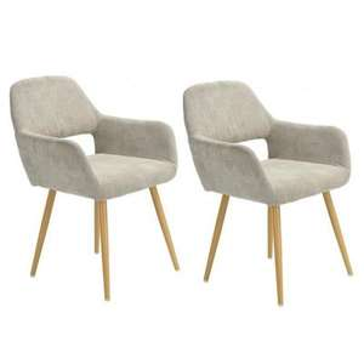 [CDAV] Lot 2 chaises scandinaves Homy Casa - 56 x 56 x 78 cm (vendeur tiers)