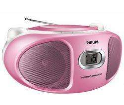 Poste radio CD Philips AZ102C/12 Rose (port inclus)