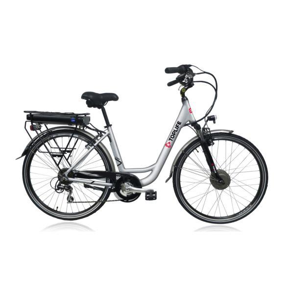 """Vélo électrique de  ville 28"""" VAE Top Life E-8000 - 7 vitesses, Autonomie 80 km,  Gris"""