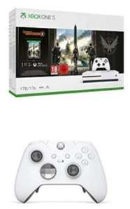 Pack de Console Xbox One S 1 To + Tom Clancy's The Division 2 + Manette sans fil Xbox Elite - Edition Spéciale Blanche + code Gears of War 4