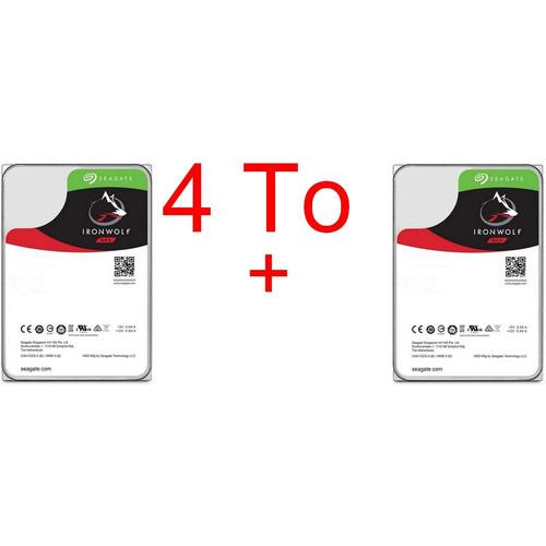 "Lot de 2 disques durs internes 3.5"" Seagate IronWolf - 2 x 2 To (5900 tpm, 64 Mo, SATA III)"