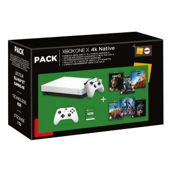Console Microsoft Xbox One X 1 To + 2ème manette + 6 jeux + 3 mois de Live Gold