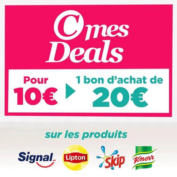 Bon d'achat de 20€ valable en magasin (Groupe Casino) sur les marques Signal, Skip, Lipton, Knorr