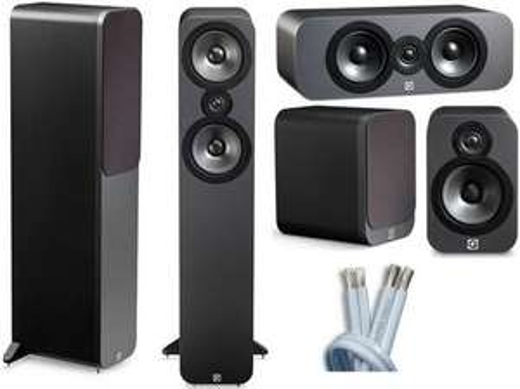 Pack multicanal 5.0 Nad T758 + enceintes  Q Acoustics Q3050 + Q3090C + Q3020 (graphite ou walnut) + câble HP 30 mètres