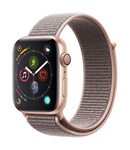 Montre connectée Apple Watch 4 (GPS) - Aluminium Or, 44 mm avec Boucle Sport (Rose des Sables)