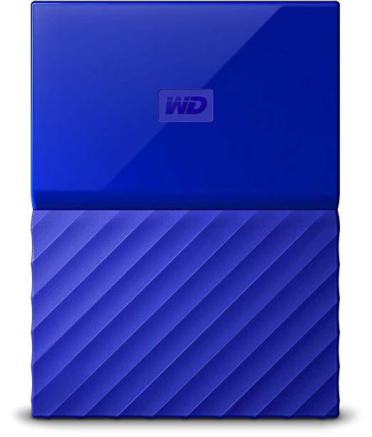Disque dur externe portable WD - My Passport - USB 3.0, 3To, Bleu