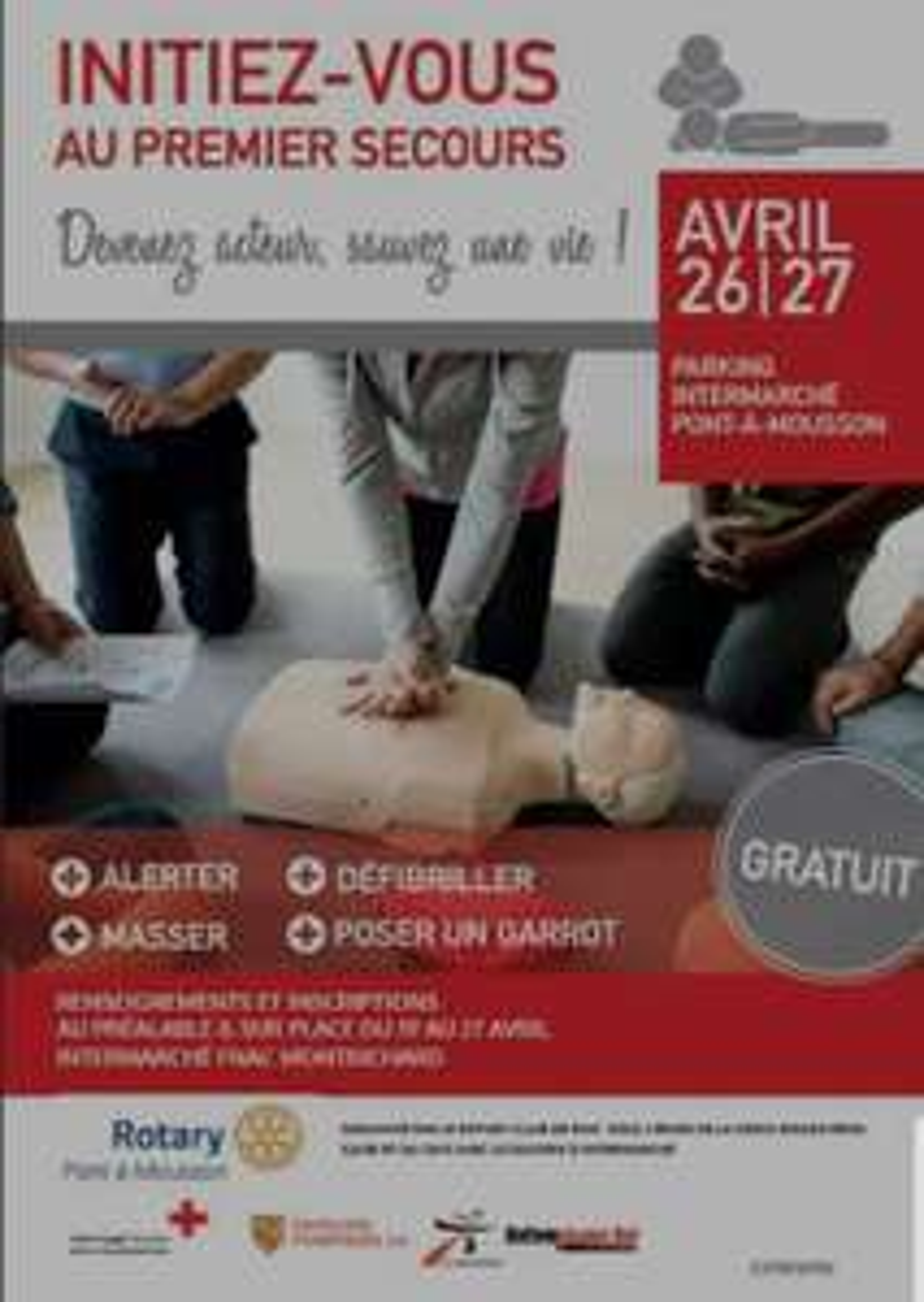 Initiation gratuite aux gestes qui sauvent avec les sapeurs-pompiers et la Croix-Rouge - Pont-à-Mousson (54)