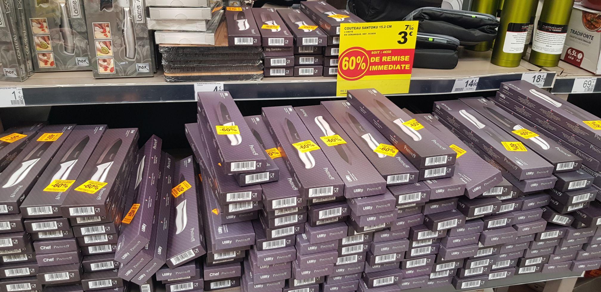 Couteau Utility, Chef ou Santoku en Ceramique - Auchan Fache (59)