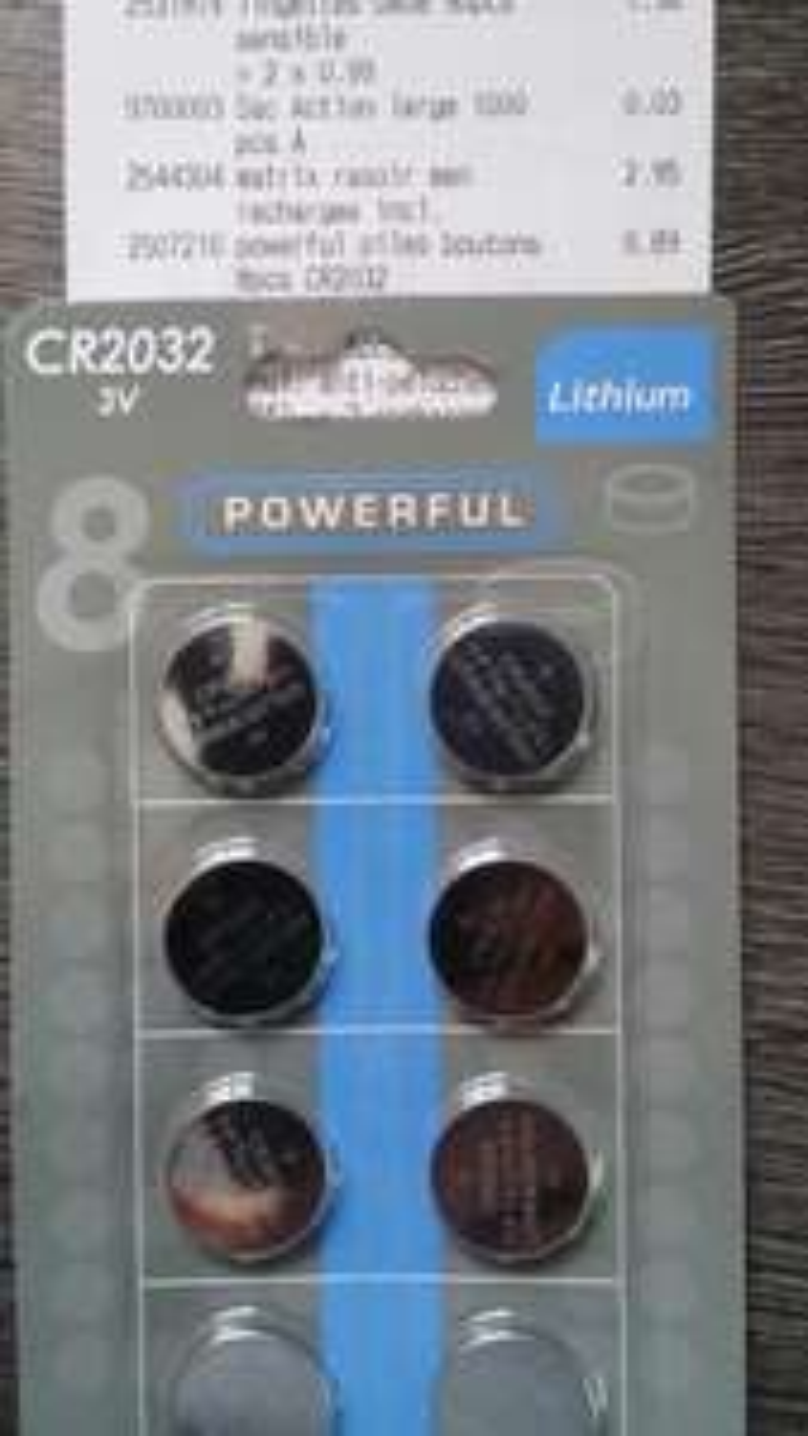Lot de 8 piles CR2032 3V Lithium