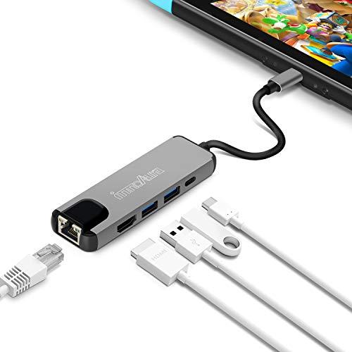 [Primes] Adaptateur Multiport de Type-C innoAura - 4K HDMI, Charge PowerDelivery, Ethernet, 2 Ports USB 3.0 (Vendeur tiers)