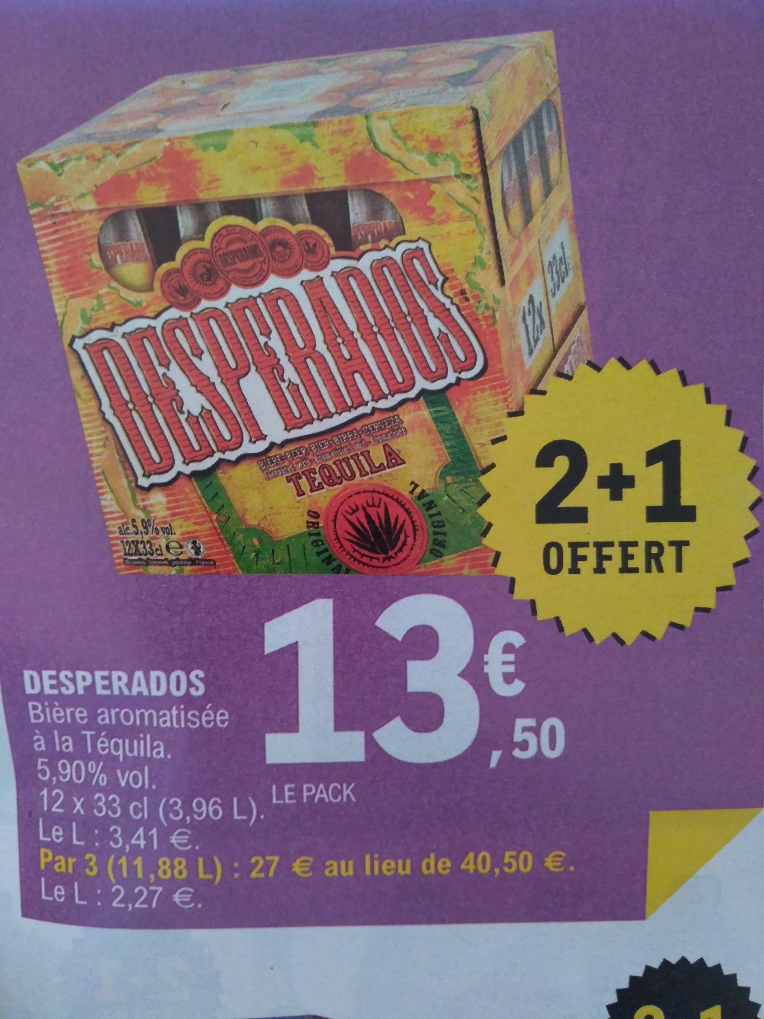 3 Packs de bières Desperados - 12 x 33cl