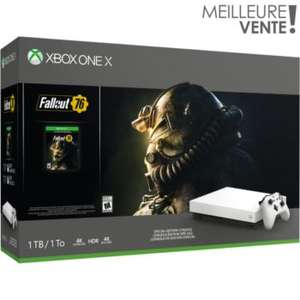 Console Xbox One X - 1 To + Fallout 76 + 2ème manette