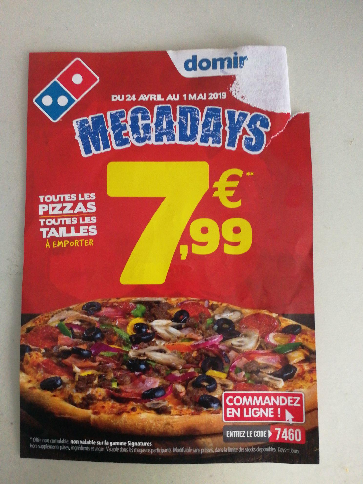 Toutes les pizzas toutes les tailles à 7,99€ (sauf signature) - Sucy-en-Brie et Chennevières-sur-Marne (94)