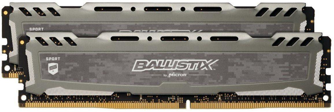 Kit RAM Ballistix Sport LT (BLS2K8G4D30BESBK) - 16Go (2 x 8 Go) DDR4, 3000 MT/s, PC4-24000, CL16