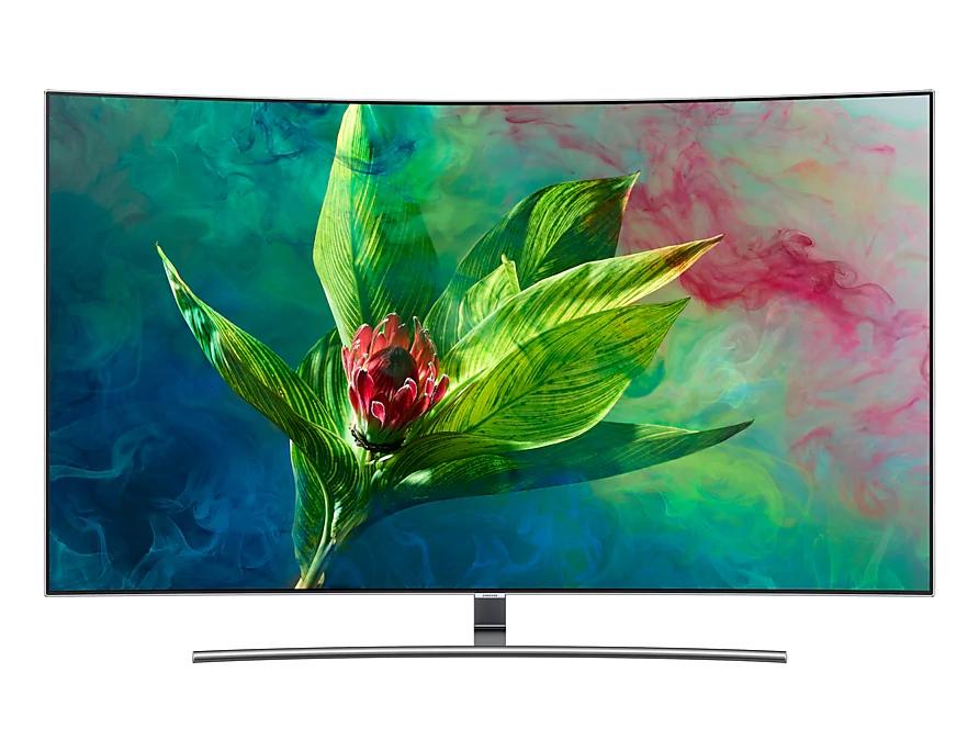 """TV 55"""" Samsung QE55Q8C (2018) - QLED, 4K UHD, HDR 1500, Incurvé, Smart TV, PQI 3400"""