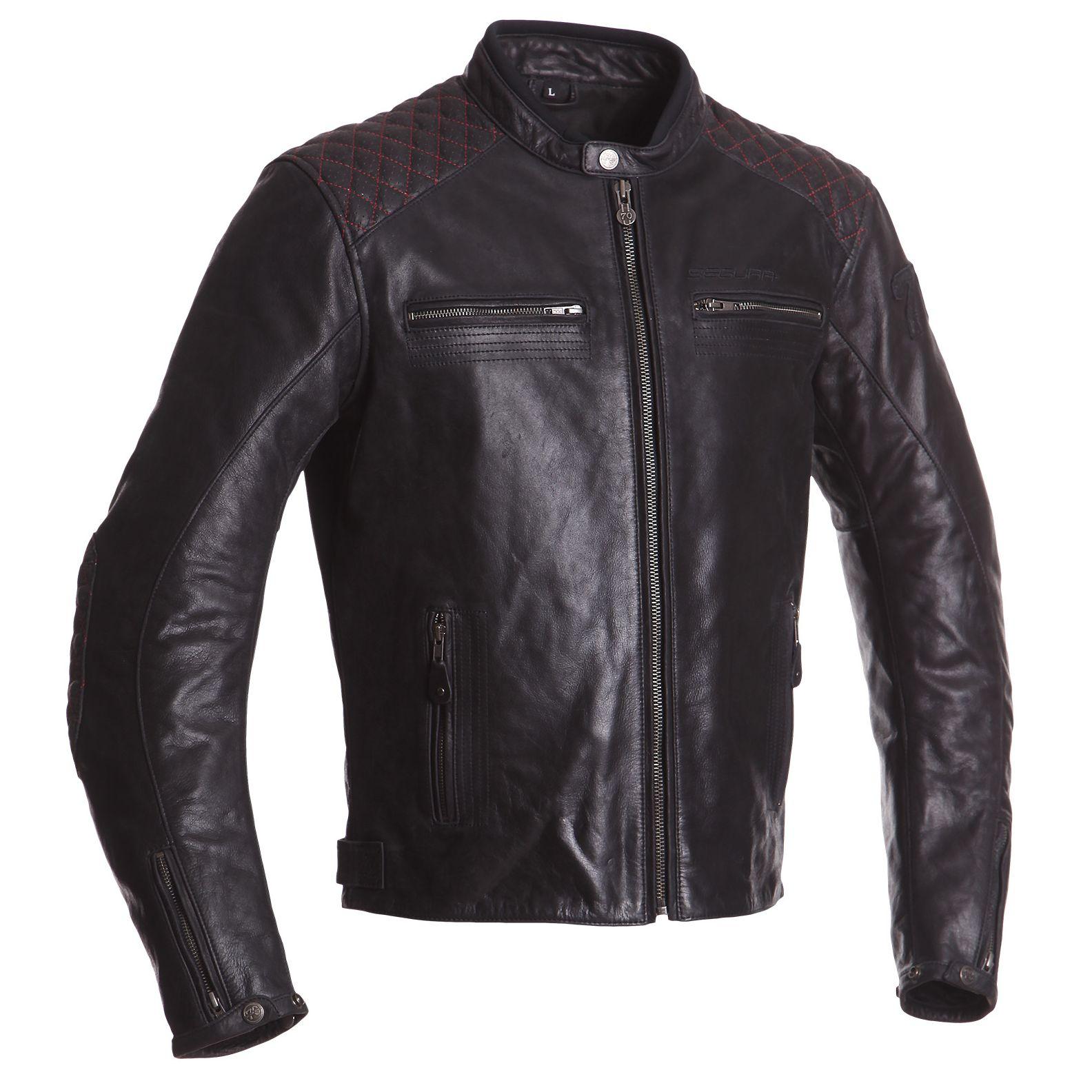 Blouson moto en cuir toutes saisons - Segura Jenner (Tailles M à 3XL)