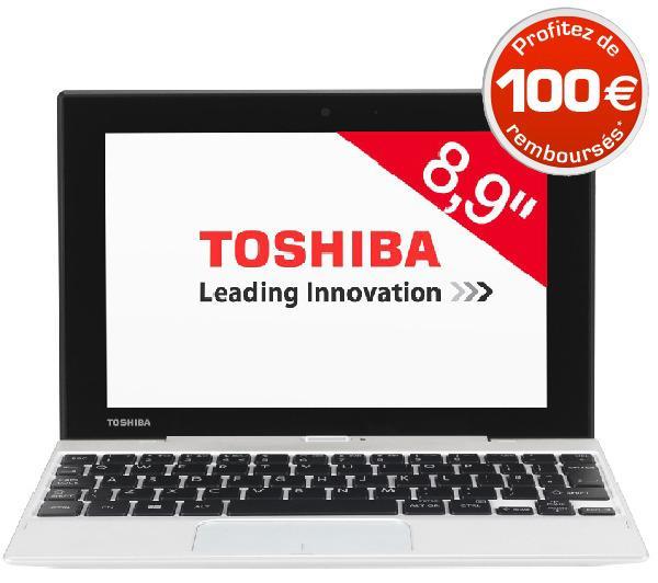 """PC portable convertible 8.9"""" Toshiba Satellite Click Mini - Intel Atom Z3735F, 2Go de ram (via ODR 100€)"""