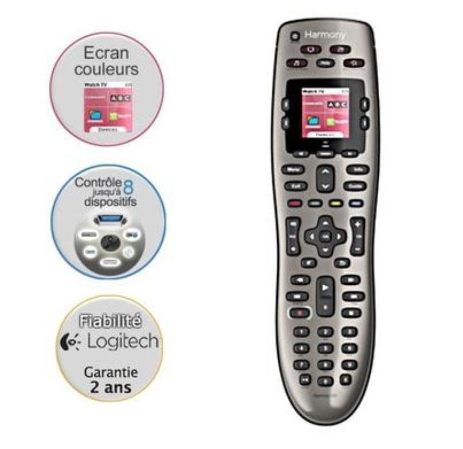 Télécommande Universelle 8-en-1 Logitech Harmony 650 avec Écran Couleur