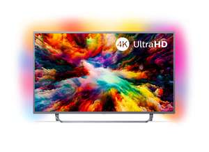 """TV 55"""" LED Philips 55PUS7303 - 4K UHD, HDR, Ambilight, Android TV"""