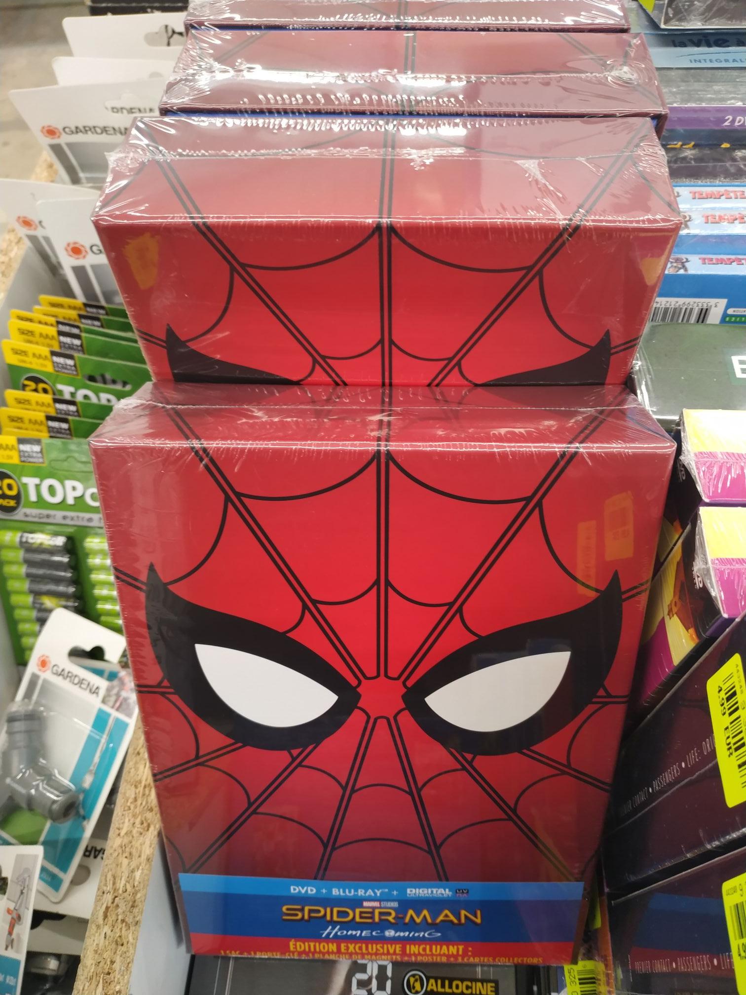 Coffret Spider-Man Homecoming (DVD + Blu-ray + digital ultraviolet) - Chasseneuil du Poitou (86) / Menneval (27) / Bourgoin (38)