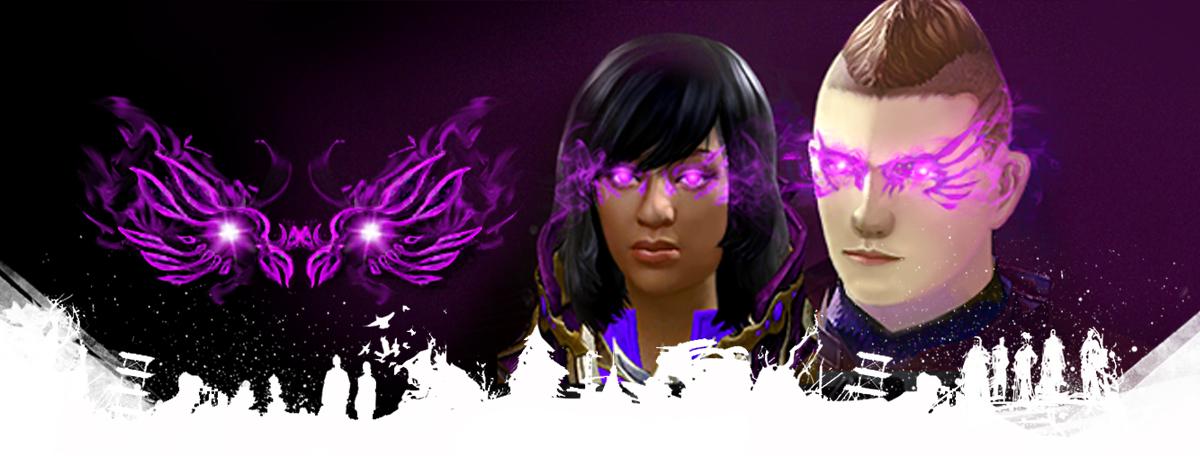 Masque violet scintillant sur Guild Wars 2 (Dématérialisé)