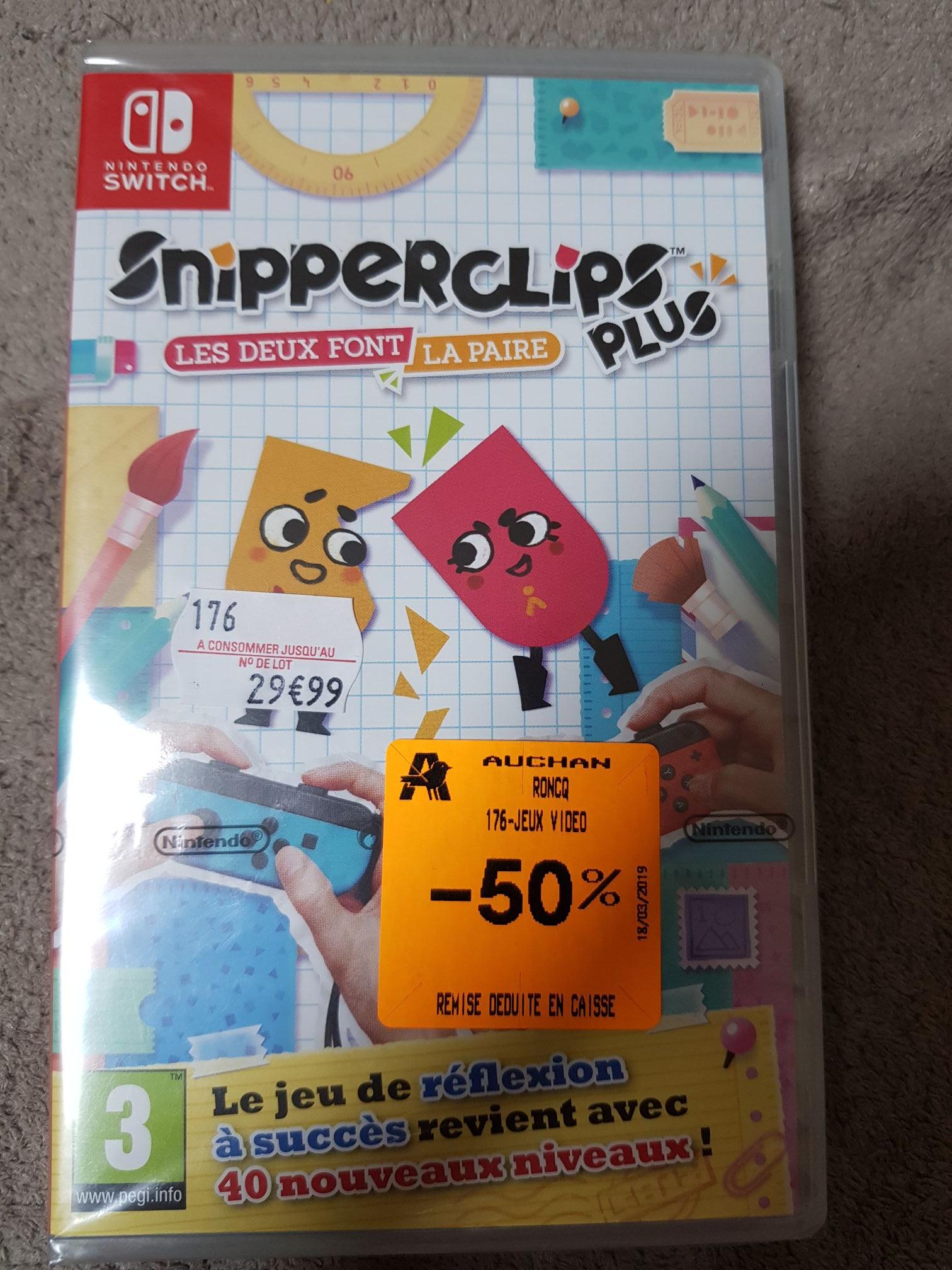 Jeu Snipperclips plus sur Nintendo Switch - Auchan roncq (59)