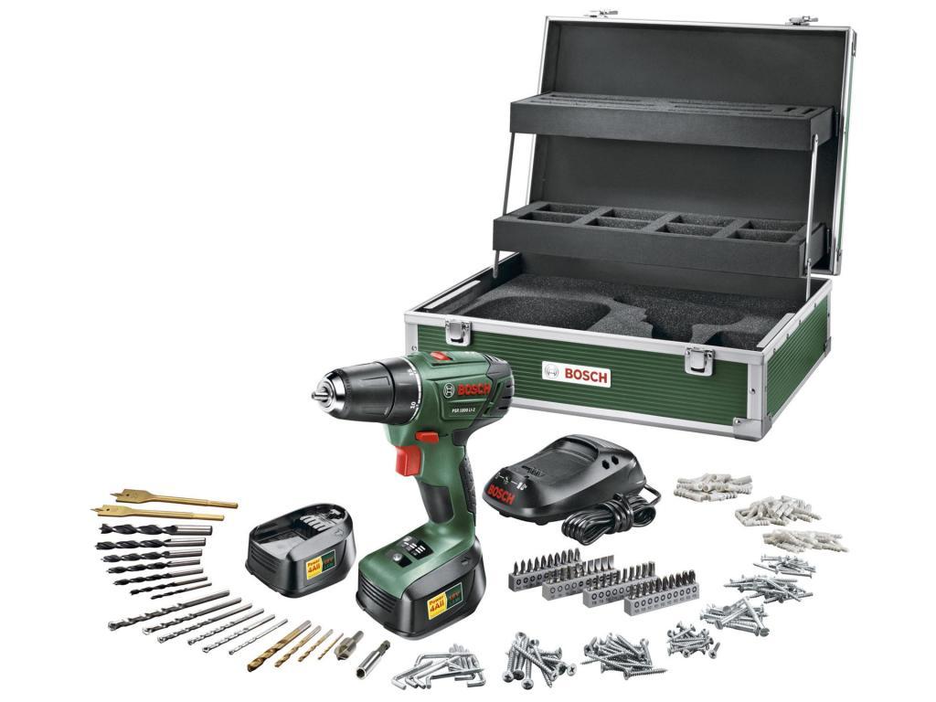 Perceuse-visseuse Bosch PSR 1800 + 2 Batteries 18V LI-2 + Toolbox de 241 accessoires