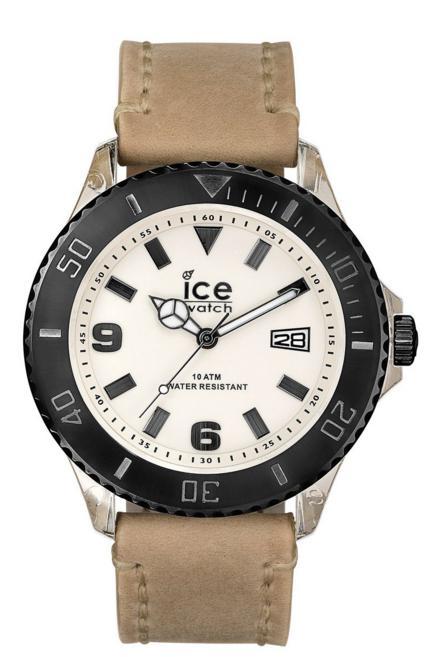 Montre mixte Ice-Watch Quartz analogique, Bracelet cuir beige