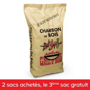 3 Sacs de charbon de bois Grill o'bois - 3x50L