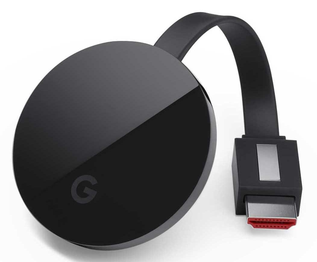 Passerelle multimédia Google Chromecast Ultra - 4K HDR (+ 5.90€ en SuperPoints)