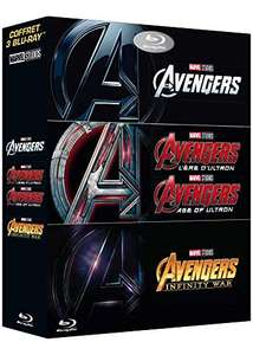 Coffret Blu-ray Marvel - Avengers + Avengers : L'ère d'Ultron + Avengers : Infinity War