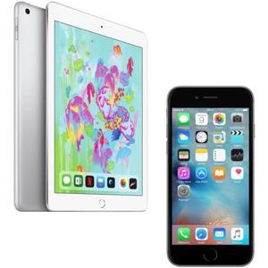 "Tablette tactile 9.7"" Apple iPad 2018 (Full HD, A10 Fusion, 2 Go de RAM, 32 Go) + Smartphone Apple iPhone 6S - 32 Go"
