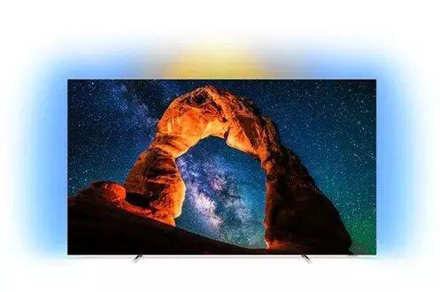 """TV OLED 55"""" Philips 55OLED803 - UHD 4K, HDR, Smart TV, Ambilight 3 côtés (Via ODR de 200€)"""