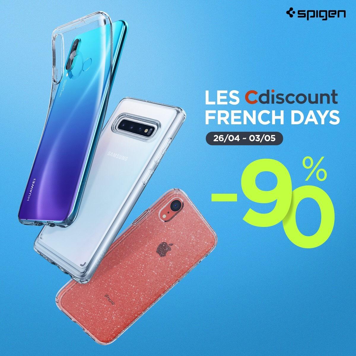 Sélection de coques Spigen en promotion - Ex : coque SPIGEN Liquid Air SAMSUNG Galaxy A8 2018