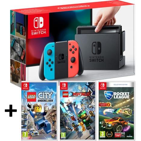 Pack Console Nintendo Switch + Lego City Undercover + Lego Ninjago + Rocket League Edition Collector