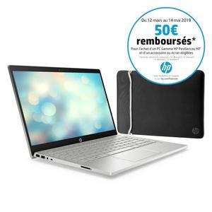 "PC portable 14"" full HD HP Pavillion 14-ce0009nf - i5-8250U, 8 Go de RAM, 256 Go en SSD, Windows 10 + Housse PC portable HP (via ODR de 50€)"