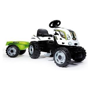 Tracteur à pédales Smoby Farmer XL Vache + Remorque