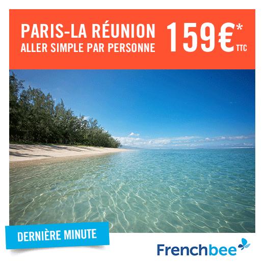 Vol Aller-Simple Paris (Orly) - Saint-Denis (Réunion via French Bee - Départ le 05 Mai