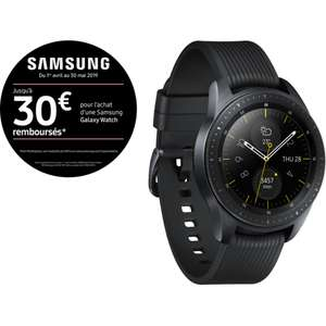 Montre Samsung Galaxy Watch - Noir carbone, 42mm (via ODR de 30€)