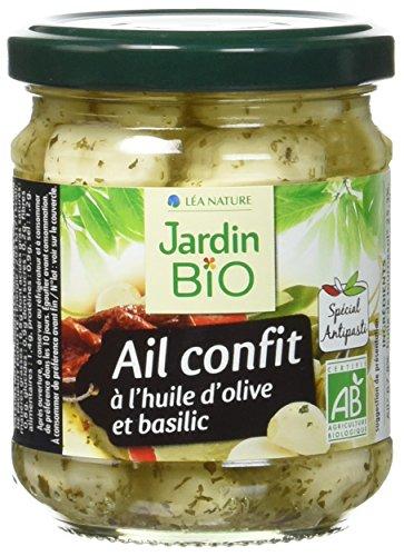 [Pantry] Ail Confit à l'Huile d'Olive/Basilic Lea Nature Jardin Bio -  190g
